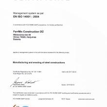 FERRMIX CONSTRUCTION OÜ Certificates