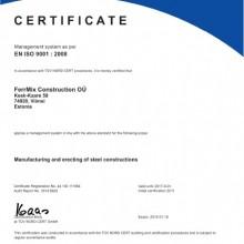 FERRMIX CONSTRUCTION OÜ EN ISO 9001-2008