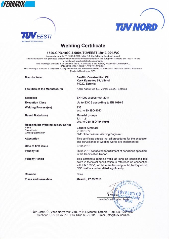 QUALITY AND CERTIFICATION   FERRMIX CONSTRUCTION   CONVEYING SYSTEMS ...