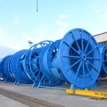 Production of cable reels