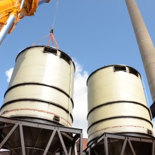 Installation of silos in Helsinki