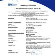 FERRMIX EN1090-2 EXC3 WELDING CERTIFICATE